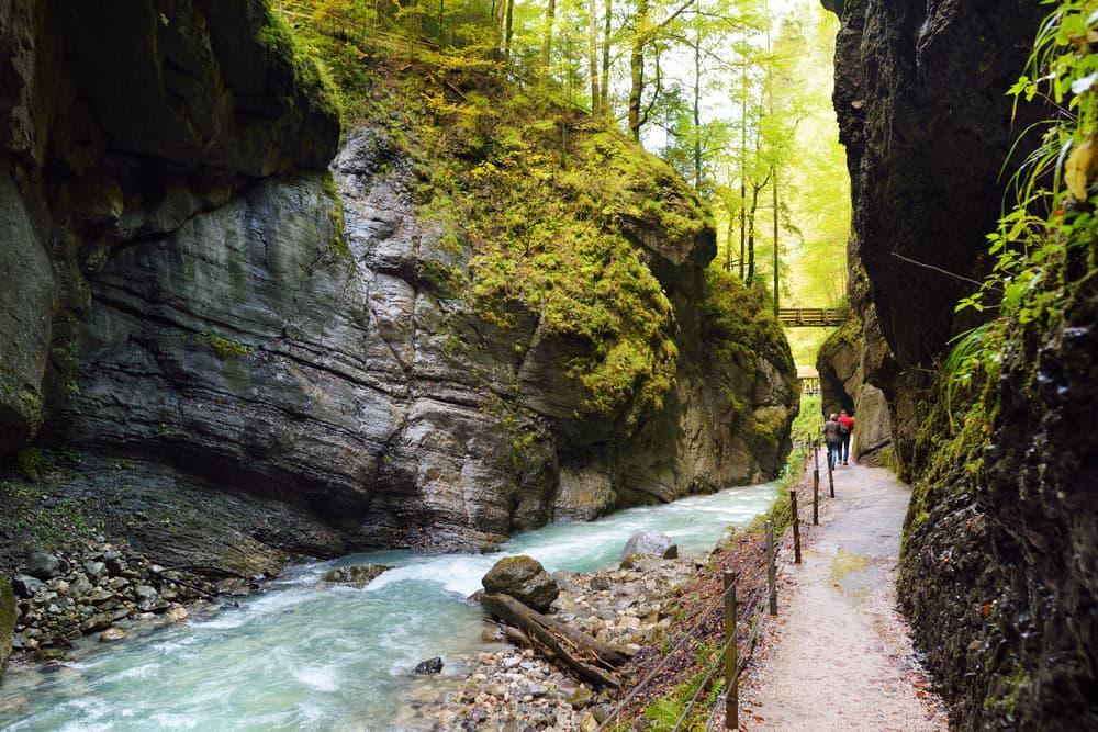 hiking in Partnach Gorge