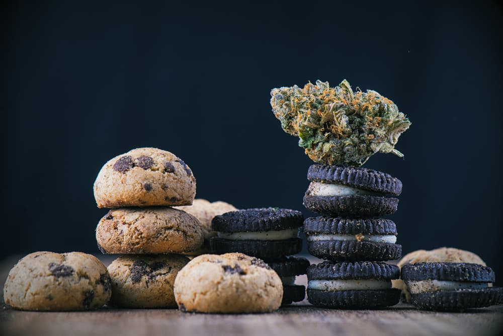 Edibles on a table