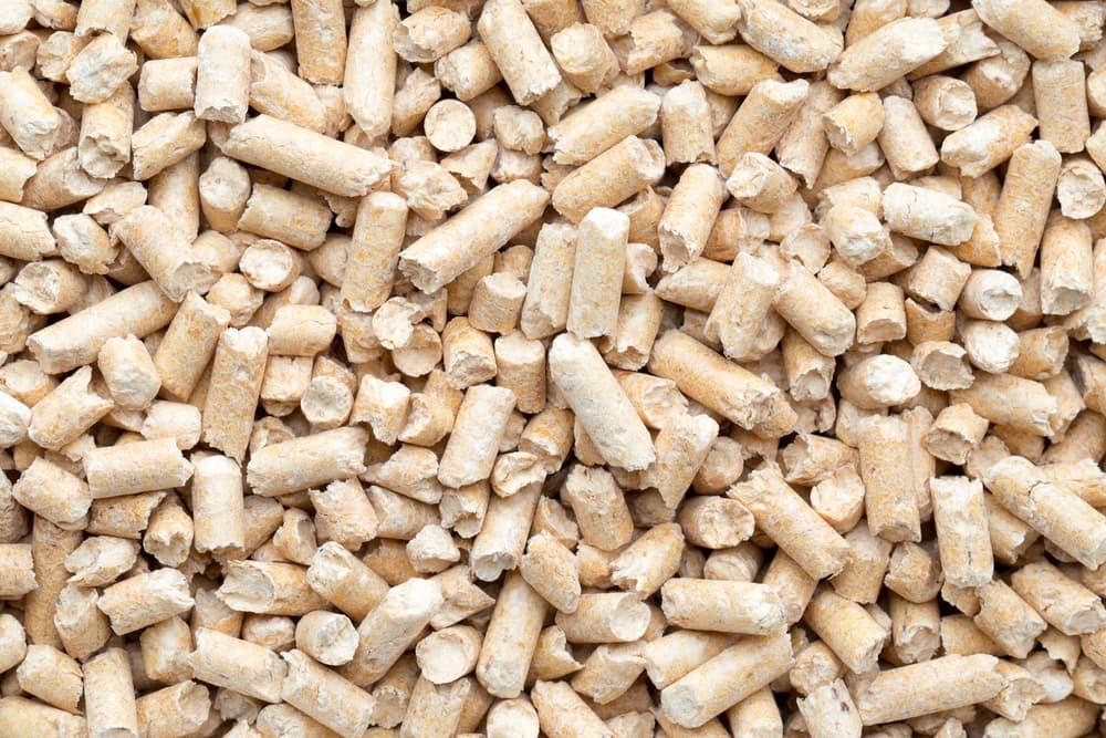 Wood pellets used in cat litter