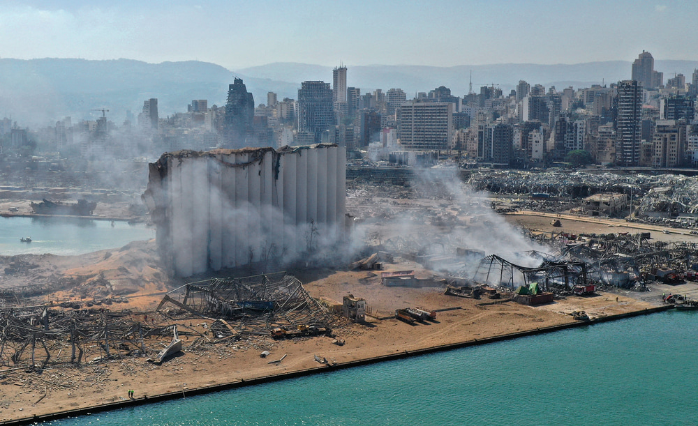 Photo of the aftermath of Beirut explosion