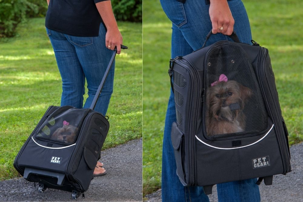 PetGear dog backpack with wheels