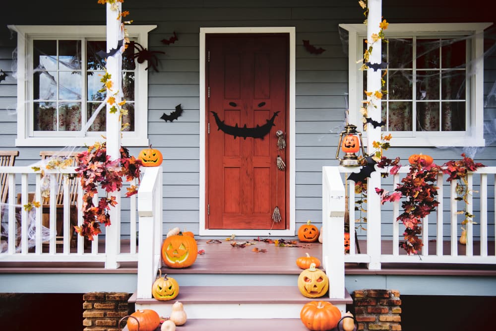 Home decorated with lots of Halloween fun