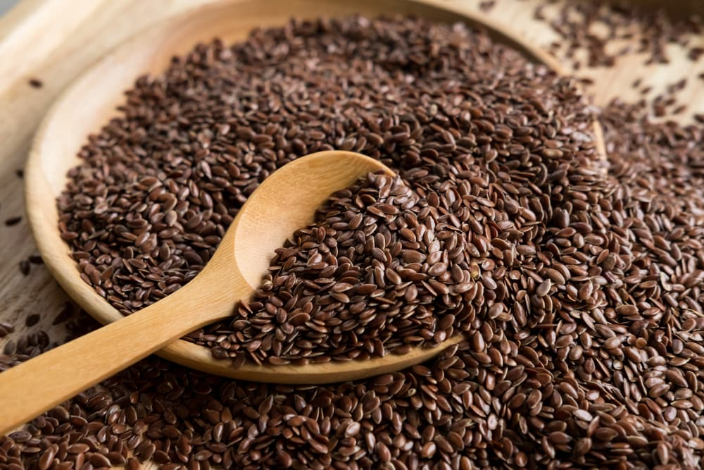 Flaxseeds in a bowl