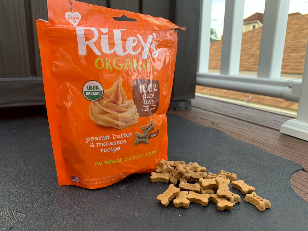 Riley's peanut butter dog treats