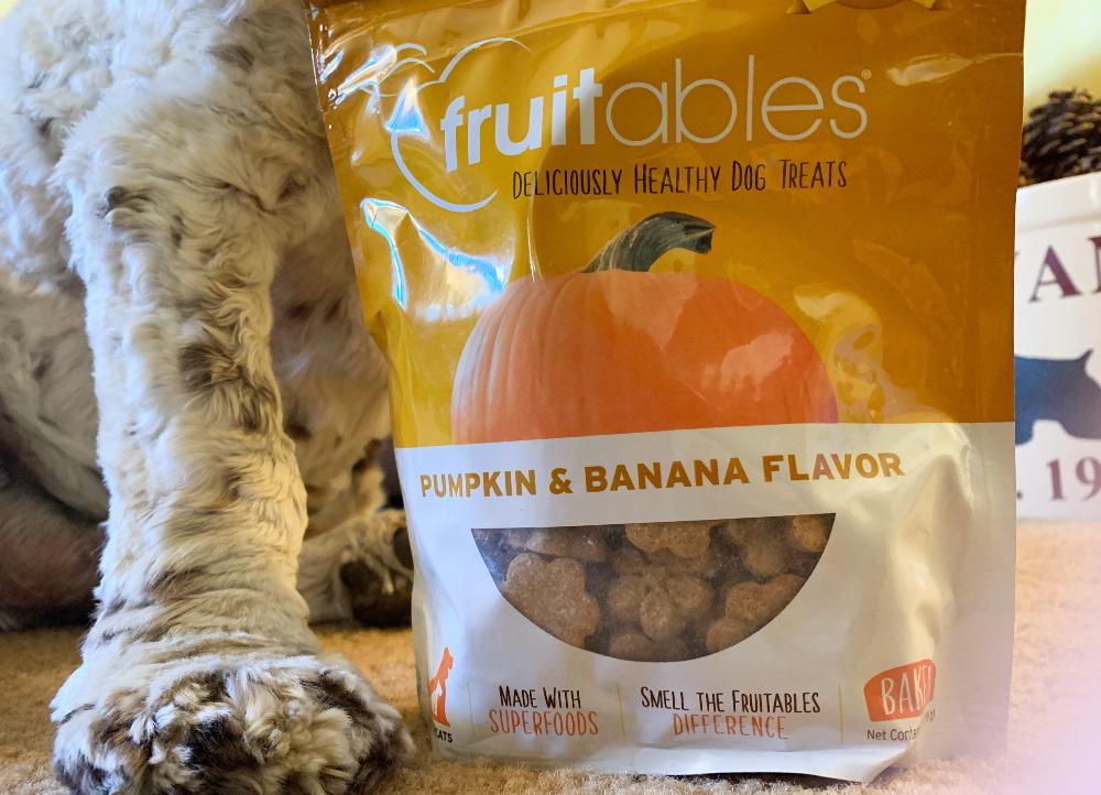 Fruitables pumpkin and banana dog treats