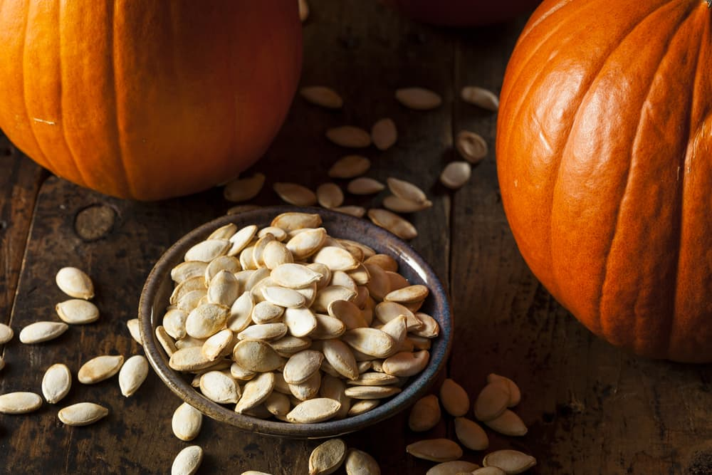 pumpkin seeds on the table