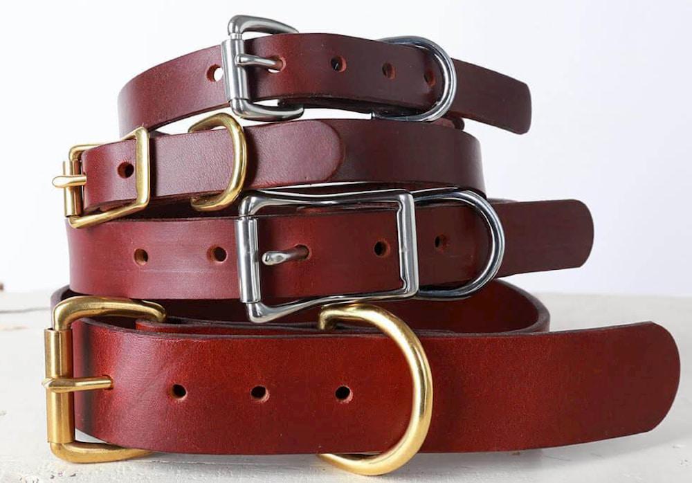Leather dog collars