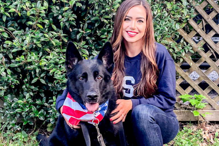Sylvalyn Simpson and her dog Hugo