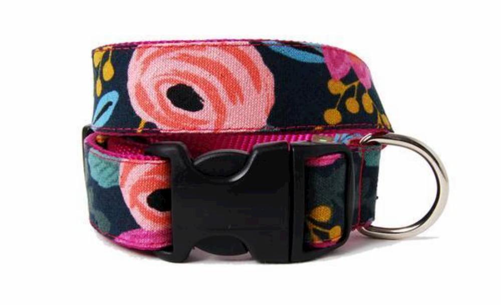 Floral fancy dog collar
