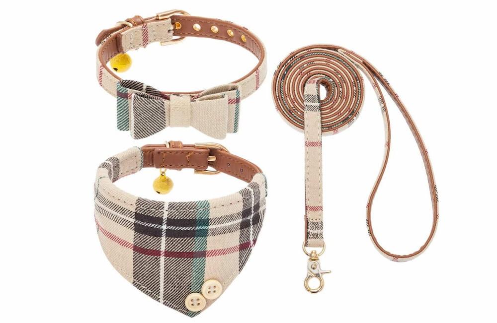 Three-piece dog collar set