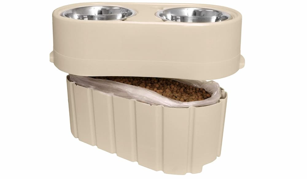 Our Pets raised dog bowl with storage