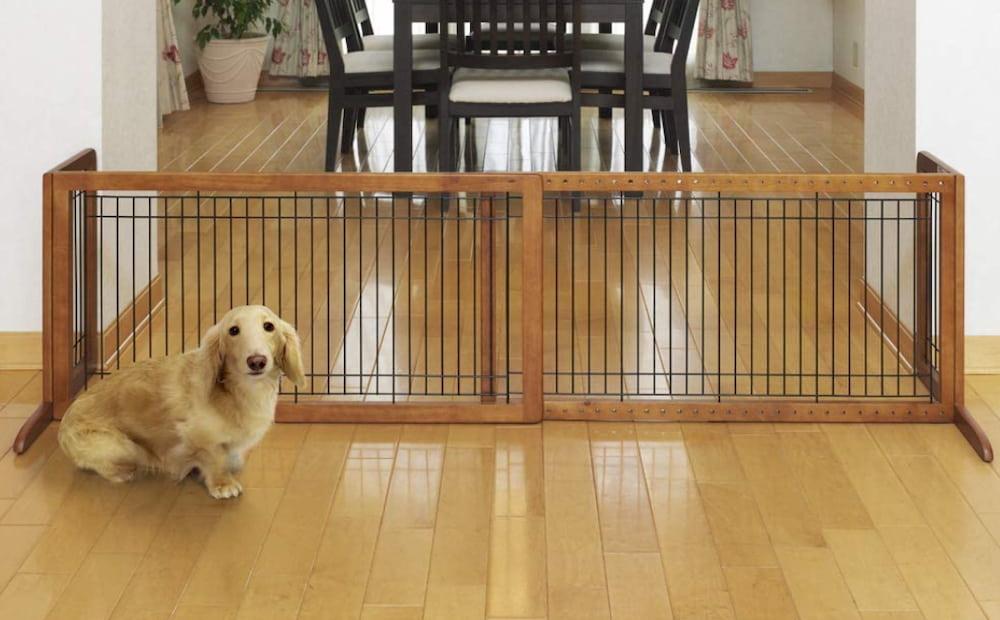 Richell Wood Freestanding Pet Gate