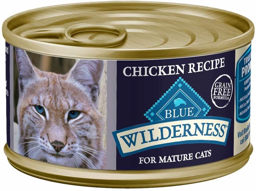 Blue Buffalo Wilderness Natural Mature Pate Wet Cat Food