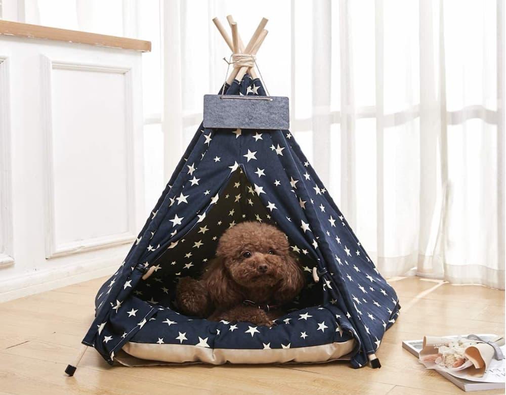 Arkmiido Pet Teepee Dog Bed