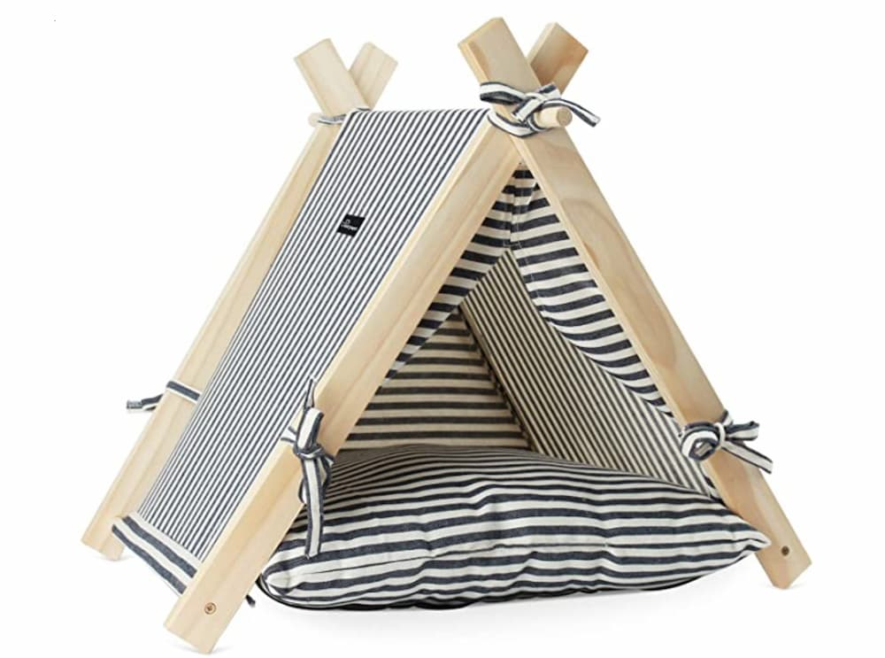Striped Teepee Dog Bed