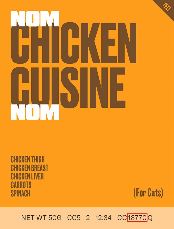 Nom Nom Recalls Chicken Cuisine for Cats Due to Possible Listeria Contamination