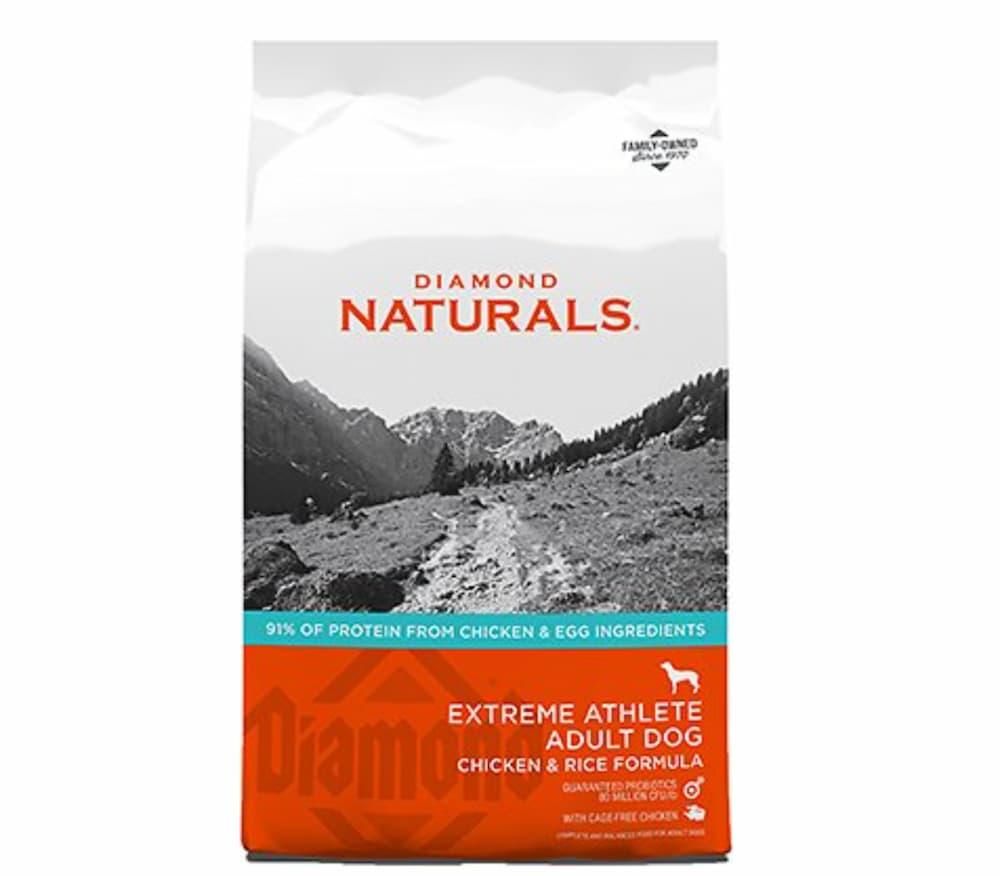 High-protein dog food formula: bag of Diamond naturals
