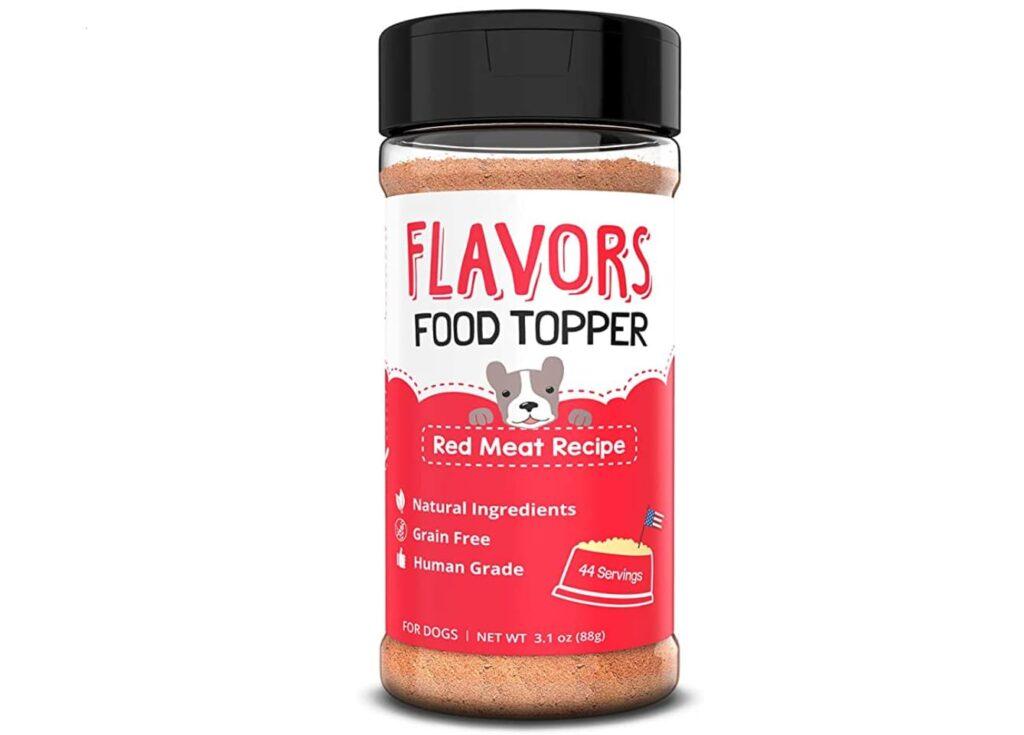 Bottle of flavors food topper