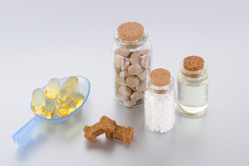 Capsules, pills, chews, liquids and other dog vitamin supplements