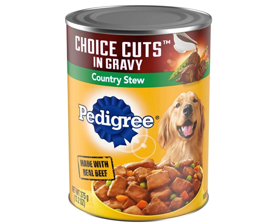 Pedigree country stew wet dog food formula