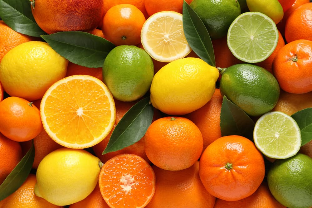 Close up photo of citrus fruits, a smell cats hate