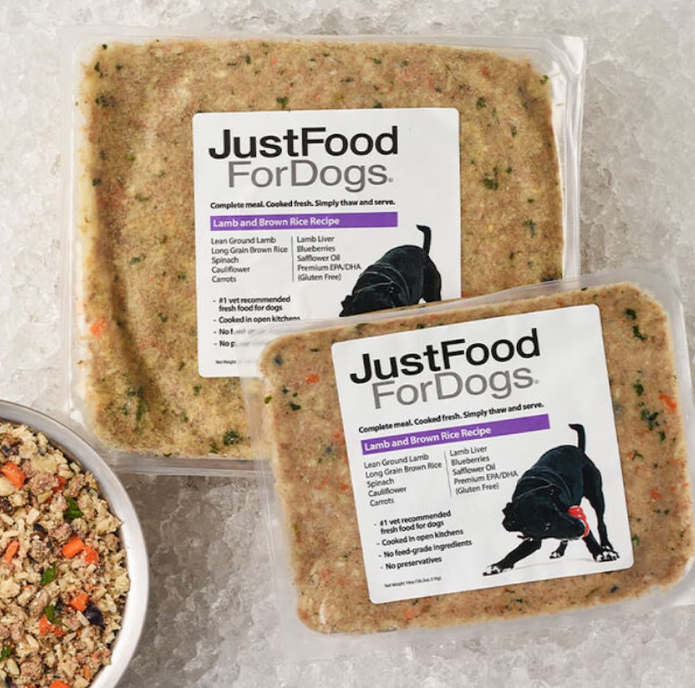 Packets of JustFoodForDogs