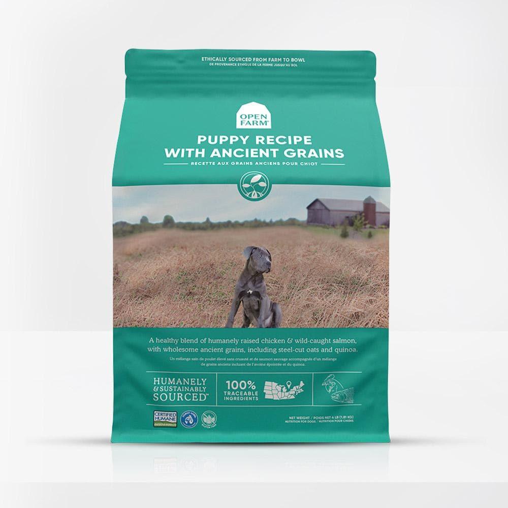 open farm ancient grains dry puppy dog food
