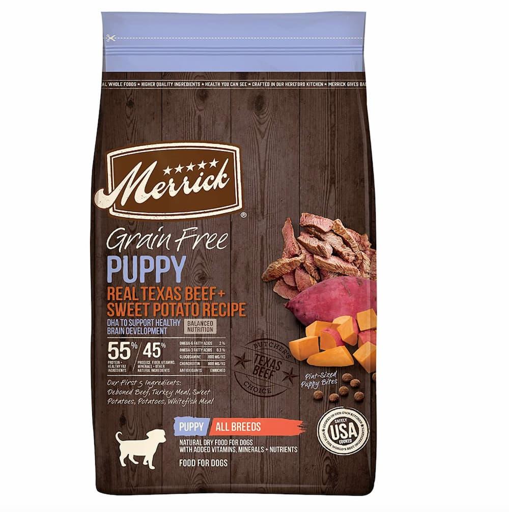 Merrick grain free puppy food