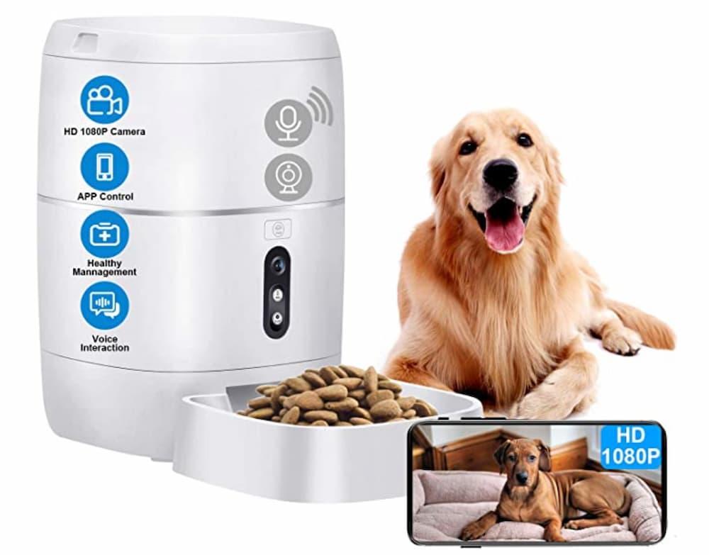 LeeKooLuu Q01 HD 1080P Camera WiFi Smart Feeder 6L Automatic Cat Feeder Automatic Dog Feeder