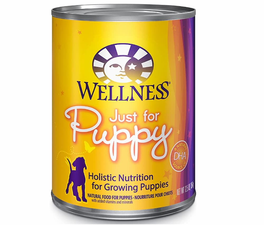 Wellness just for puppy dog food