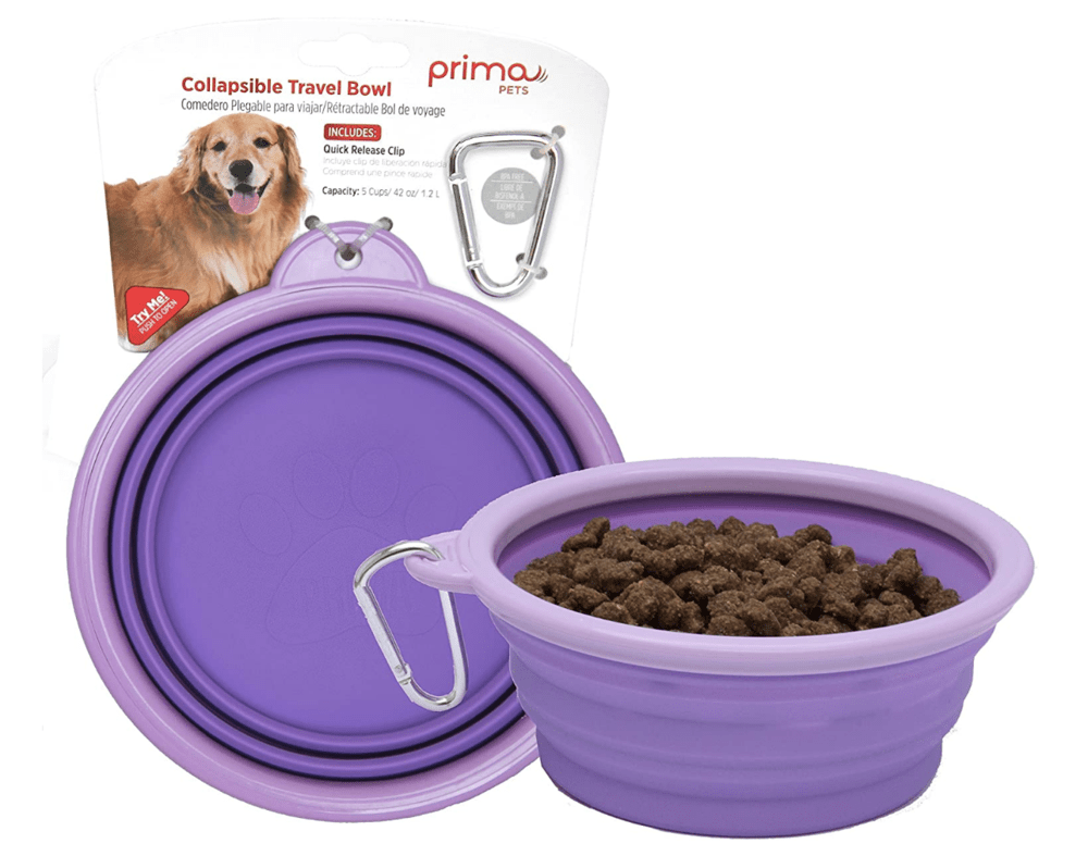 Prima collapsible travel dog bowl