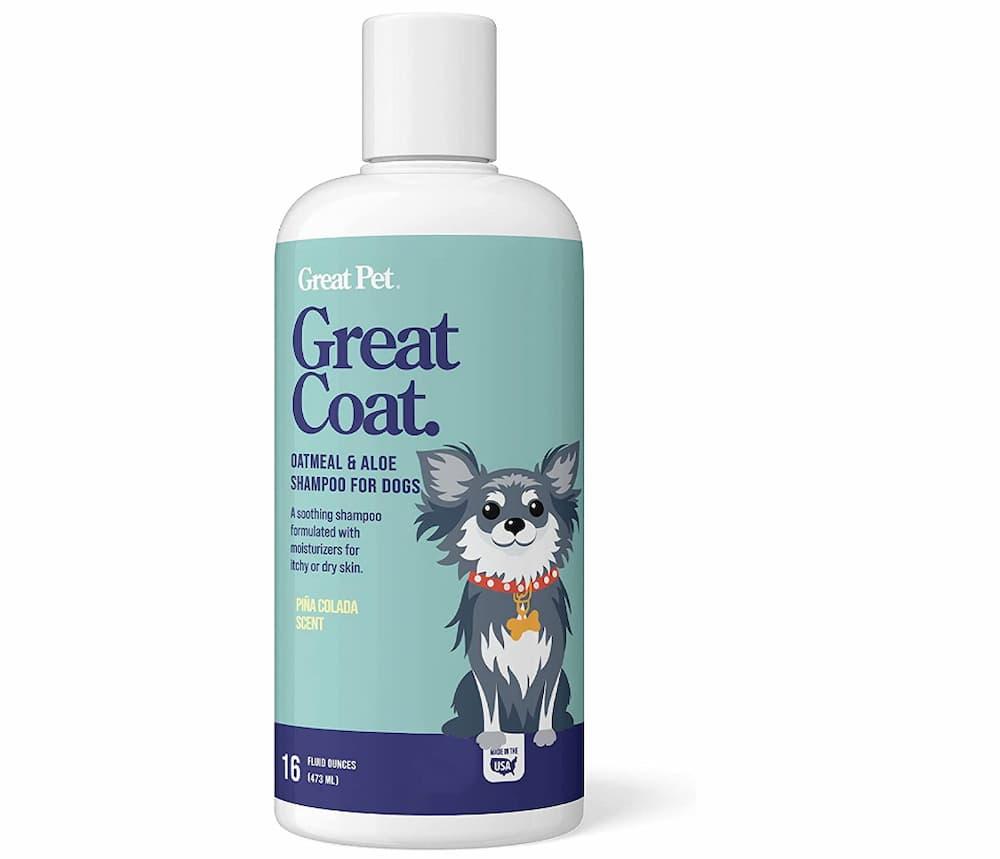 Great Pet Great Coat oatmeal and aloe dog shampoo bottle