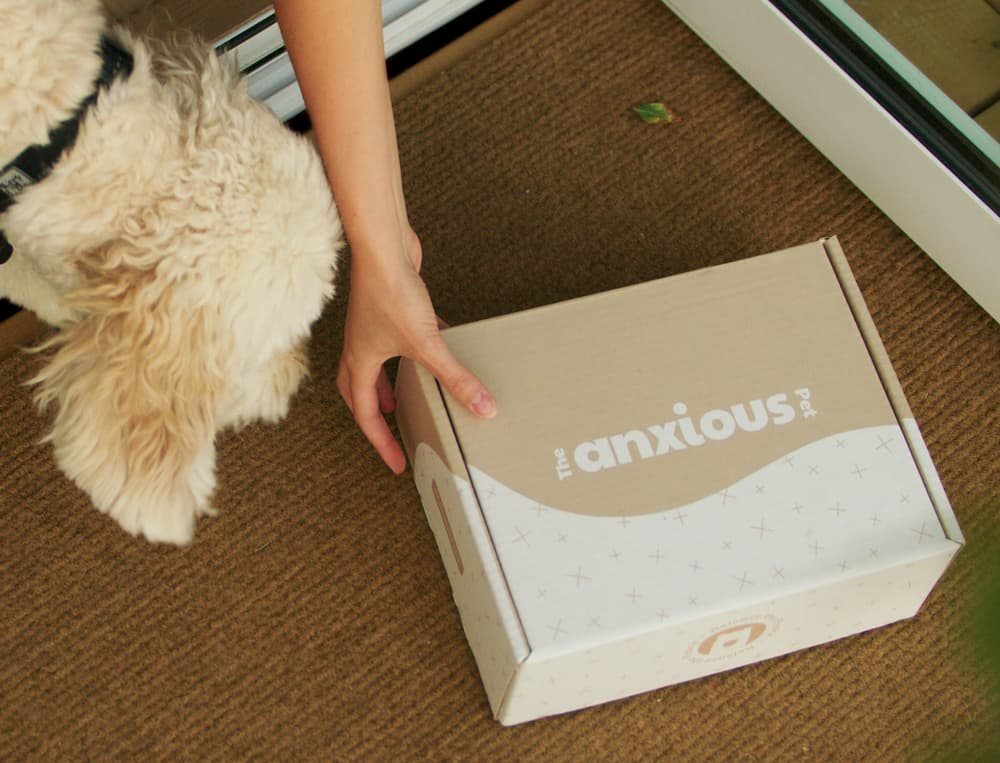 The Anxious Pet products getting delivered